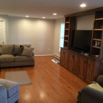 New family room with custom cabinetry by Todd Swan
