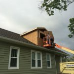 New second story dormer to allow space for full bath addition