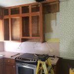 Demo of existing kitchen before renovation