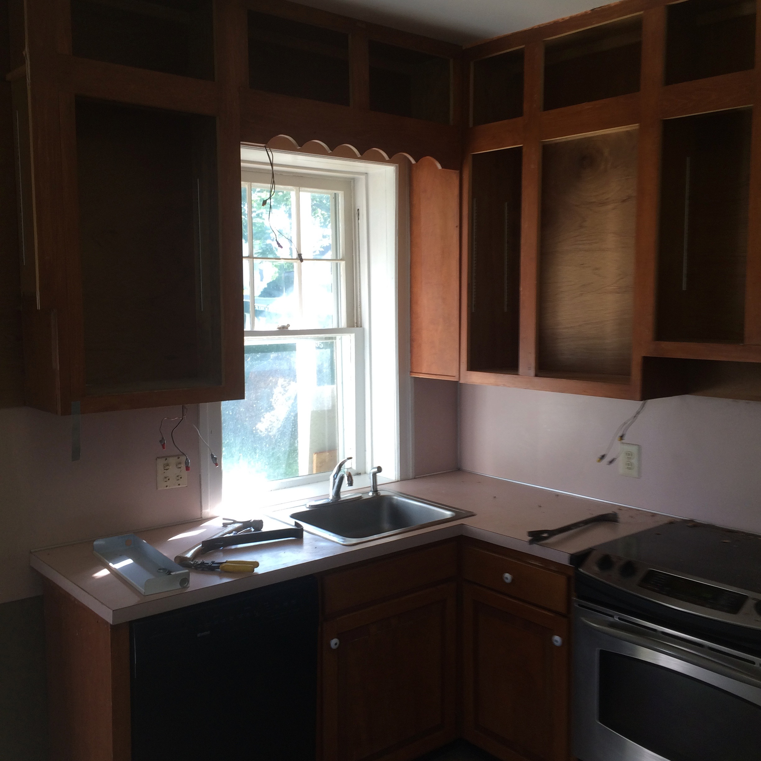 projects kitchen remodeling frederick md Demo of existing kitchen before renovation